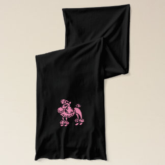 ピンクのプードルのスカーフ スカーフ