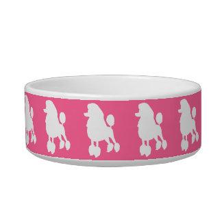 ピンクのプードルのペットボウル 猫の水皿