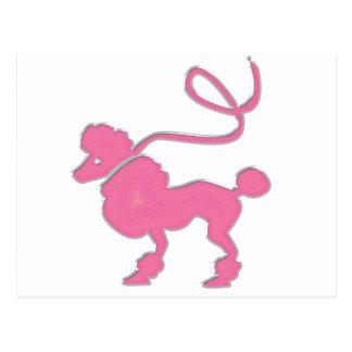 ピンクのプードル ポストカード