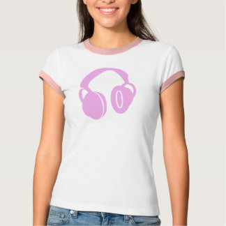 ピンクのヘッドホーンの上 Tシャツ