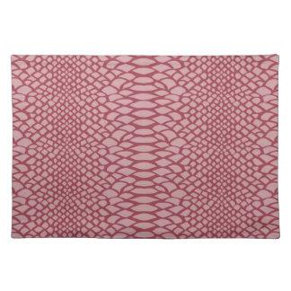 ピンクのヘビのプリント ランチョンマット