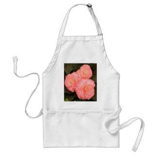 ピンクのベゴニアの花 スタンダードエプロン