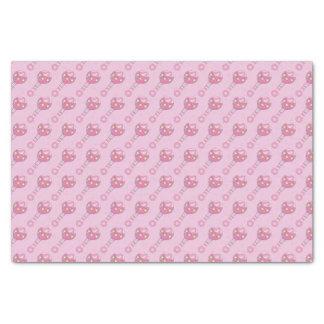 ピンクのベビーのラッセル音パターン 薄葉紙
