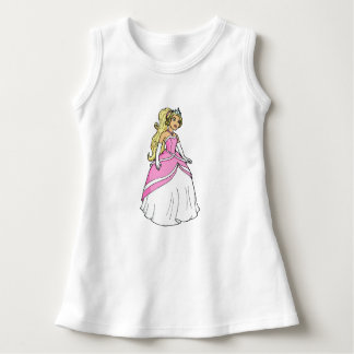 ピンクのベビーの袖なしの服のプリンセス ドレス