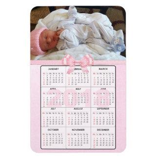 ピンクのベビー2018小型冷却装置磁石のカレンダー マグネット