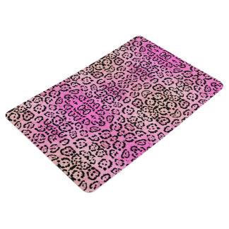 ピンクのベンガルヤマネコ動物の油性ペイントの効果 フロアマット