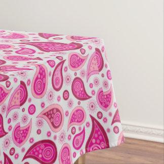 ピンクのペイズリーのテーブルクロス テーブルクロス