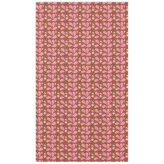 ピンクのペイズリーのパネル テーブルクロス