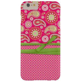 ピンクのペイズリーのiPhone 6のプラスの場合 Barely There iPhone 6 Plus ケース
