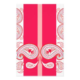 ピンクのペイズリー 便箋