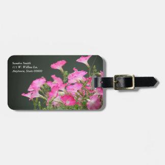 ピンクのペチュニアの荷物のラベル ラゲッジタグ