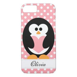 ピンクのペンギン愛 iPhone 8/7ケース