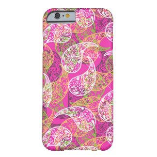 ピンクのペーズリーのiPhone 6/6sの場合 Barely There iPhone 6 ケース