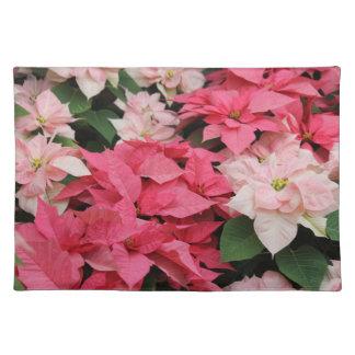 ピンクのポインセチアの花束のランチョンマット ランチョンマット