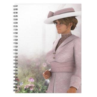 ピンクのポートレートでかわいらしい ノートブック