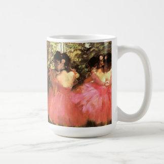 ピンクのマグのダンサーのガスを抜いて下さい コーヒーマグカップ