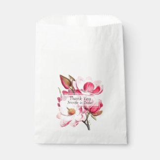ピンクのマグノリアの結婚式の引き出物のバッグ フェイバーバッグ