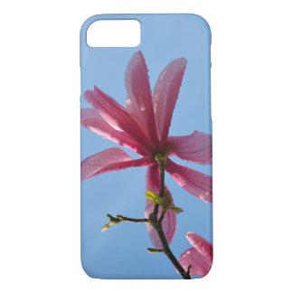 ピンクのマグノリアの花のプリントのiphoneの場合 iPhone 8/7ケース