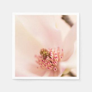 ピンクのマグノリアの花の花のマグノリアの花 スタンダードカクテルナプキン