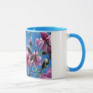 ピンクのマグノリアはコーヒー・マグ開きます マグカップ