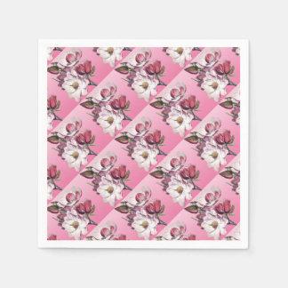 ピンクのマグノリア スタンダードカクテルナプキン