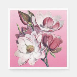 ピンクのマグノリア スタンダードランチョンナプキン