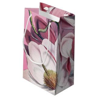 ピンクのマグノリア スモールペーパーバッグ