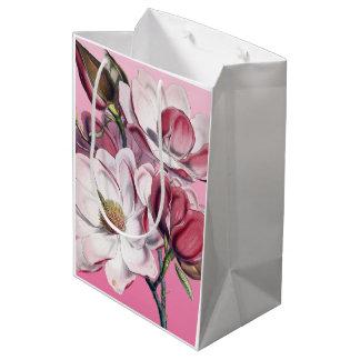 ピンクのマグノリア ミディアムペーパーバッグ