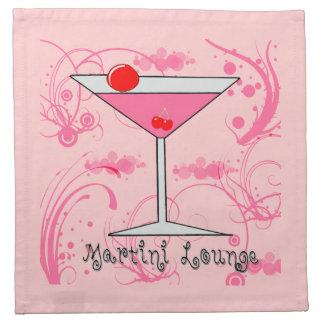 ピンクのマルティーニ-マルティーニのラウンジの布のアメリカ人MoJo ナプキンクロス