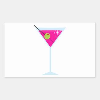 ピンクのマルティーニ 長方形シール