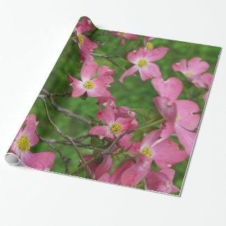 ピンクのミズキのギフトの包装紙 ラッピングペーパー