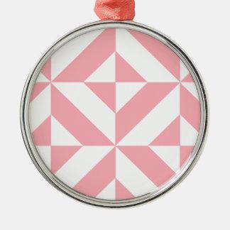 ピンクのメロンの幾何学的なDecoの立方体パターン メタルオーナメント