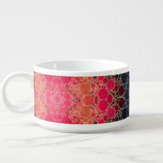 ピンクのモモのターコイズのフラクタルの抽象芸術 チリボウル