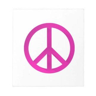 ピンクのモモの印 ノートパッド