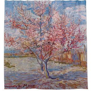 ピンクのモモ木のゴッホの芸術の絵画 シャワーカーテン
