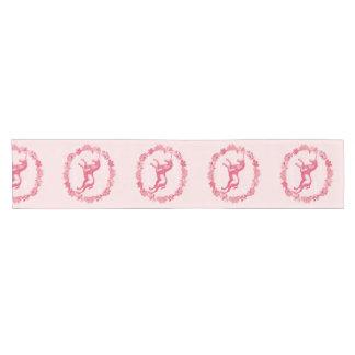 ピンクのユニコーンおよび花 ショートテーブルランナー