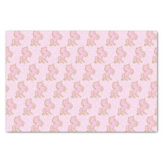 ピンクのユニコーンのティッシュペーパー 薄葉紙