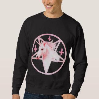 ピンクのユニコーンの五芒星のスエットシャツ スウェットシャツ