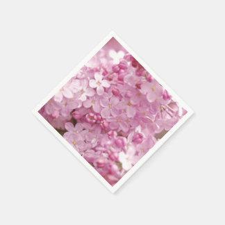 ピンクのライラック スタンダードカクテルナプキン