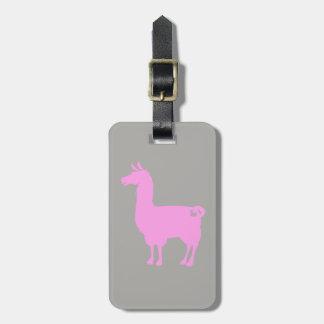 ピンクのラマの荷物のラベル ラゲッジタグ