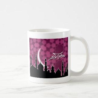 ピンクのラマダーンKareem コーヒーマグカップ