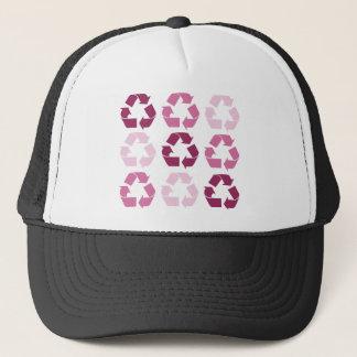 ピンクのリサイクルの記号 キャップ