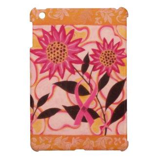 ピンクのリボンおよび花 iPad MINIケース