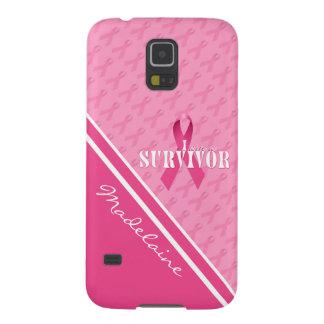 ピンクのリボンのカスタムな乳癌の生存者 GALAXY S5 ケース
