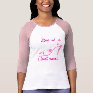 ピンクのリボンのハイヒールの乳癌 Tシャツ