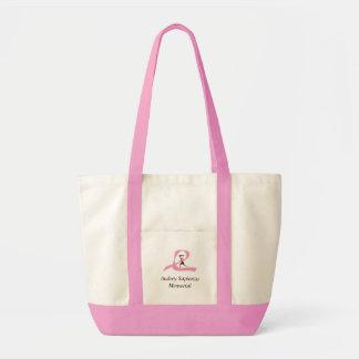ピンクのリボンのランナー、Audrey Sapienzaの記念物 トートバッグ
