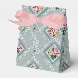 ピンクのリボンのヴィンテージの壁紙箱 フェイバーボックス