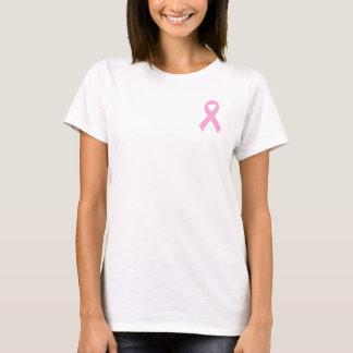 ピンクのリボンの乳癌の認識度のTシャツ Tシャツ