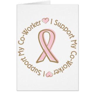 ピンクのリボンの乳癌サポートCo労働者 カード