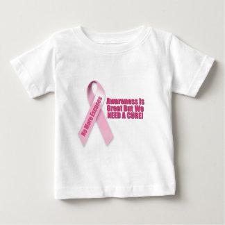 ピンクのリボンの乳癌 ベビーTシャツ